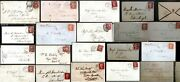 Gb 1840 - 1879 1d Red And Qv Covers Postal History Postmarks Locations + Imperf