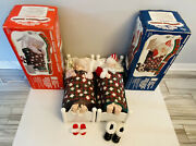 Telco Motionette Animated Santa And Mrs. Claus Sleeping Snoring Christmas Decor