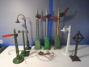 Lionel And American Flyer Standard And O Gauge Signal Lot For Parts / Repair