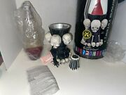 Rare 2007 Vintage Spencer Gifts Skull Lava Lamp Box Papers Red Emo Metal Horror