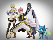Fairy Tail X Bfull Figure Natsu Lucy Zeref + Happy Limited Quantity Fedex Dhl