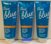 Bath And Body Works True Blue Spa Shea Butter Lay It On Thick Body Cream X 3