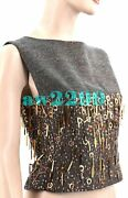 Nwt 4880 Vintage 00a Jeweled Cc Logo Crop Top Fr38 S Collectorand039s Item