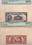 ✪ 1935 50 Bank Of Canada - Bc-14bp - French - Legacy 68 + 67ppq
