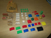 Vintage 1950s Sifo Kinder City Wooden Village Blocks 53 Pieces And My Town Bag