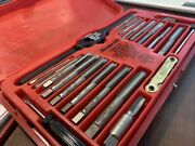Snap On Tools Usa Tap And Die Set Kit Metric Thread Repair Tdm-117a 3-12mm 41pc