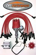 Ford 351c-351m-400m-429-460 Pro Series Hei Distributor Red + 60k Coil + Wires
