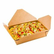 Bio Tek 49 Ounce Paper Take Out Boxes 200 Greaseproof Take Out Food Container...