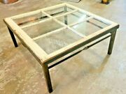 Antique Window Farmhouse Coffee Table Barn Rustic Upcycle