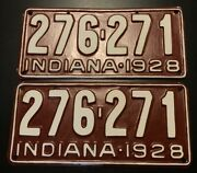 1928 Indiana License Plate Tag Restored Show Car Ready