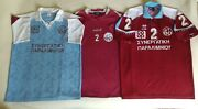 Lot Of 3 2 Enosis Neon Paralimni Match Issue Jersey Spyrotex Errea Mitre Shirt
