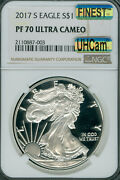 2017-s White Label American Silver Eagle Ngc Pf-70 Mac Uhcam Spotless Very Rare