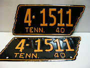 1950 Tennessee License Plate  4 - 1511 Restored Yom/dmv Clear Vintage As5011