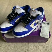 Authentic Men 9.5us Nike Sb Dunk Low Us9.5 Blue Free Shipping No.3758