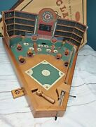 Mint Condition 26 Euc Large Old Century Wood Baseball Pinball Style Table Game