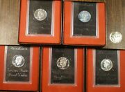 2 1972 3 1973 Silver Proof Ike Eisenhower Dollars In The Brown Boxes