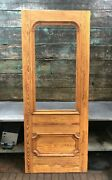 38x95 Antique New Orleans Heart Cypress 1800and039s Door Pantry Architectural Salvage