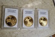 1933 Saint Gaudens Lot Of 3 20 Proof Gold Coin Copy Double Eagle 24k Gold Plate