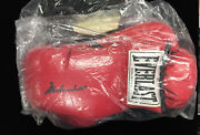 Muhammad Ali Autographed Pair Everlast Boxing Gloves With Coa One Glove Signed