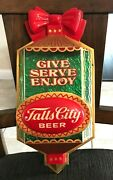 Rare Vintage Falls City Beer Christmas - Xmas Ornament 3d Sign Louisville Ky
