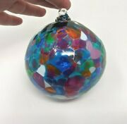 Multicolor Hanging Witches Ball - Art Glass