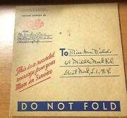 Pepsi Cola Courtesy Record Message From Service Man 1940andrsquos Or 1950andrsquos Wwii