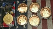 Lot Donald Trump The Great Awakening 1 Oz .999 Copper Round Coin Train Keychain
