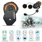 Freedconn T-max 1000m Bt4.1 Motorcycle Helmet Intercom 6 Riders Headset Us