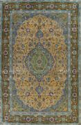 Antique Floral Ardakan Hand-knotted Area Rug Oriental Dining Room Carpet 9and039x13and039