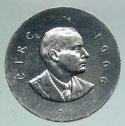 1966 Ireland Easter Rising W Pearse Irish Antique Silver 10 Shilling Coin I91132