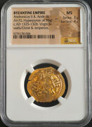 Ngc Ms 3/4 Ad1325 Byzantine Empire Andronicus Ii And Iii. Gold Hyperpyron Coin.