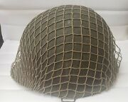 Wwii M1 Style Helmet With Net And Liner