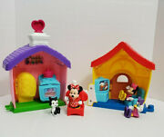 Fisher Price Little People Disney Mickey Mouse House Minnie Daisy Duck Figures