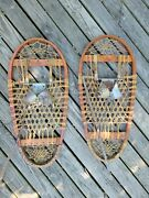 Vintage Bear Paw Snow Shoes Lund Military Snowshoes Ww2 Hastings Minnesota 1944