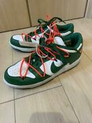 Authentic Men 9.5us Nike Dunk Rho Off-white Pine Green Free Shipping No.5999