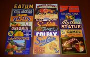 20 Diff Fruit Box Pear Crate Labels Vintage Lot Advertising Nos 1930s-1960s B62
