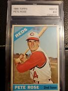 1966 Topps Pete Rose Error 1963 Hit Total Wrong Graded Mint 9