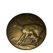Htf Society Of Medalists Vigilance Or Destruction Bronze 1947 By Bruce Moore