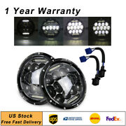 2x 7 150w Round Hi/ Lo Beam Led Headlights For Jeep Wrangler 1997-2016 Jk Tj Us