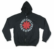 Red Hot Chili Peppers Asterisk Zip Hoodie New Official Large New. Official