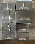 1992-1998 Black Box Silver Proof Sets Lot Of 44