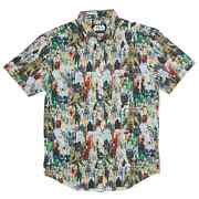 Rsvlts Star Wars Galactic Toy Box Button Down Up Shirt Xl Nwt Collection Figures