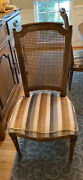 6 Henredon French Provincial Louis Xvi Caned Back Dining Chairs