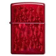New Zippo Petrol Lighter Candy Apple Red Iced Zippo Flame Design Windproof