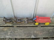 Price Imports Vintage Cast Iron Beer Wagon Toy W/ 6 Horses  B4213
