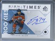 2018-19 Sp Authentic Sign Of The Times /99 Ethan Bear Sotr-eb Rookie Auto