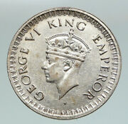 1943 B India States Uk George Vi Antique Old Silver 1/2 Rupee Indian Coin I91172
