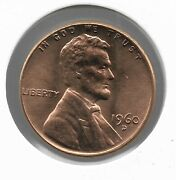 Rare Old 1960d Us Lincoln Penny Cracked Skull Collection Die Error Cent Coin H11