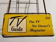Original Vintage 1950s Tv Guide Comic Book Table Top Rack --rare 15 Cent Cover