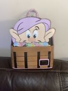 Disney Snow White And The Seven Dwarfs Dopey Exclusive Mini Backpack Loungefly Nwt